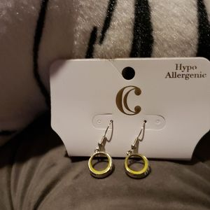 Charming Charlie yellow & silver earrings